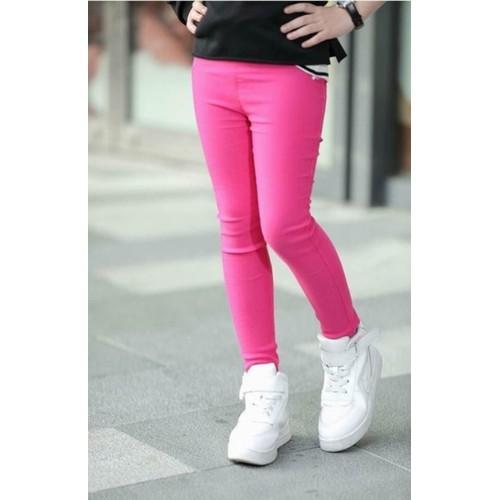 Quần kaki thun bé gái màu hồng sen size 12-41kg