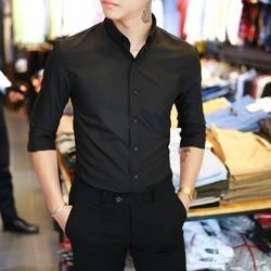giảm giá áo sơ mi nam mầu đen