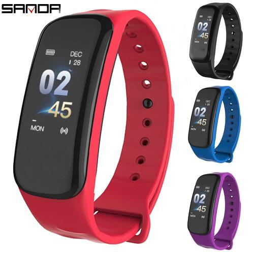 Vòng tay thông minh SANDA C1 theo dõi sức khỏe thể thao giấc ngủ nhịp tim smart band wearfit - 6256499 , 16374200 , 15_16374200 , 455000 , Vong-tay-thong-minh-SANDA-C1-theo-doi-suc-khoe-the-thao-giac-ngu-nhip-tim-smart-band-wearfit-15_16374200 , sendo.vn , Vòng tay thông minh SANDA C1 theo dõi sức khỏe thể thao giấc ngủ nhịp tim smart band wea
