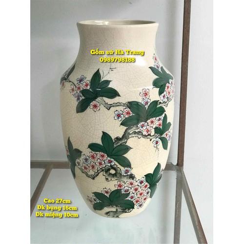 lọ hoa gốm sứ Bát Tràng cao cấp xuất dư men rạn vẽ tay - 6248927 , 16367784 , 15_16367784 , 950000 , lo-hoa-gom-su-Bat-Trang-cao-cap-xuat-du-men-ran-ve-tay-15_16367784 , sendo.vn , lọ hoa gốm sứ Bát Tràng cao cấp xuất dư men rạn vẽ tay