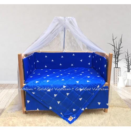 Combo cũi giường gỗ Sồi Goldcat kích thước 80x120 - Pk tam giác xanh