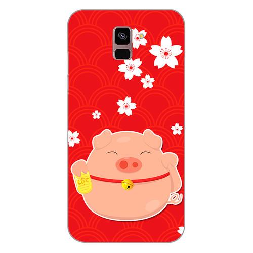 Ốp lưng dẻo cho điện thoại Samsung Galaxy A8 Plus 2018Cute Pig 02   chất lượng