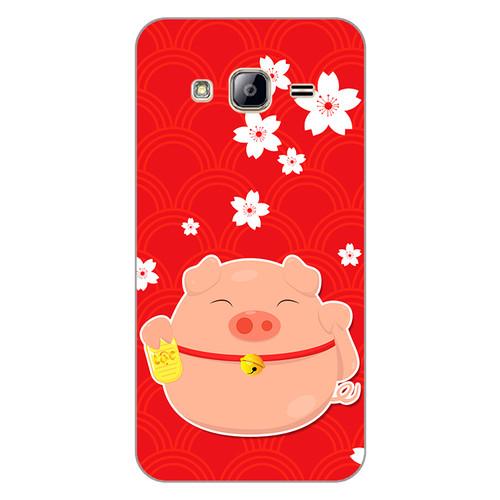 Ốp lưng dẻo cho điện thoại Samsung Galaxy J3 Cute Pig 02   hàng chất lượng cao