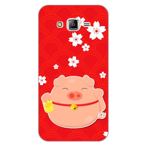Ốp lưng dẻo cho điện thoại Samsung Galaxy J7 2015Cute Pig 02   giá tốt