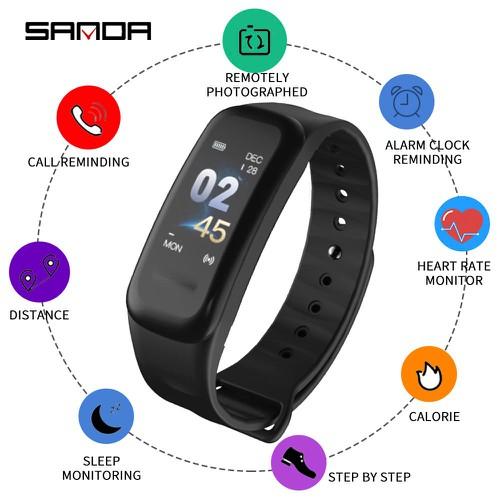 Vòng tay thông minh SANDA C1 theo dõi sức khỏe thể thao giấc ngủ nhịp tim smart band wearfit - 6254681 , 16372601 , 15_16372601 , 590000 , Vong-tay-thong-minh-SANDA-C1-theo-doi-suc-khoe-the-thao-giac-ngu-nhip-tim-smart-band-wearfit-15_16372601 , sendo.vn , Vòng tay thông minh SANDA C1 theo dõi sức khỏe thể thao giấc ngủ nhịp tim smart band wea