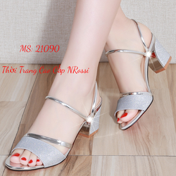 Giày sandal cao gót Màu Bạc Ánh Kim Size 42 NRossi