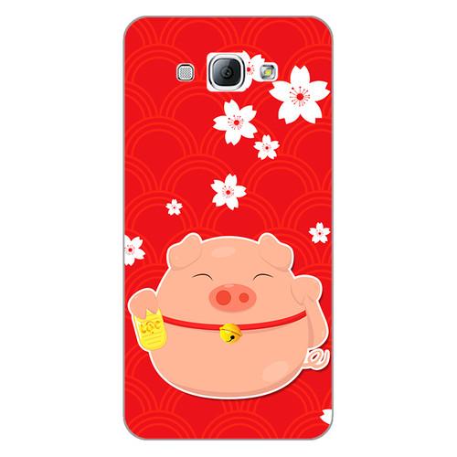 Ốp lưng dẻo cho điện thoại Samsung Galaxy A8 2015Cute Pig 02   chất lượng