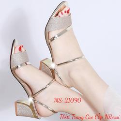 Giày Sandal Cao Gót Quai Ngang size 37 38 39 40 NRossi