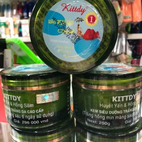 Kem siêu dưỡng trắng da cao cấp huyết yến & hồng sâm kittdy - Kittdy