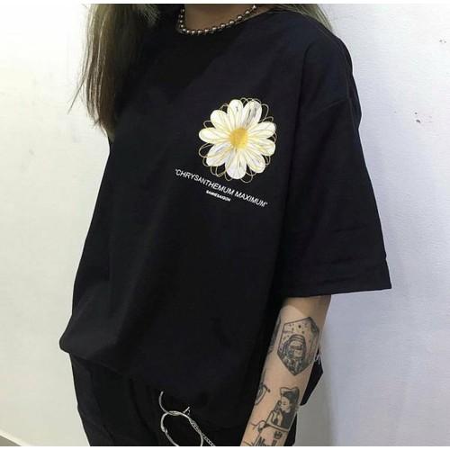 áo thun in hoa cúc