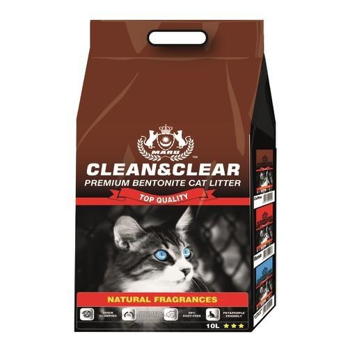 CÁT VỆ SINH CHO MÈO CLEAN & CLEAR 10L