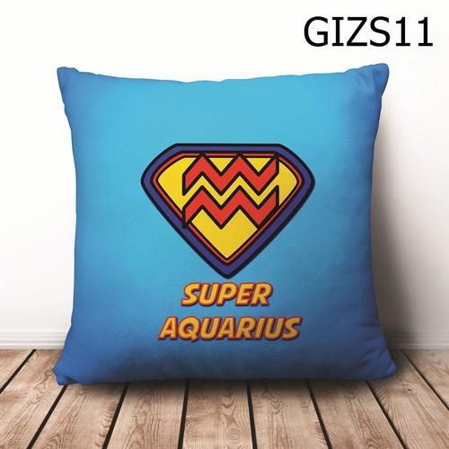 Gối vuông cung hoàng đạo bảo bình aquarius gvht565