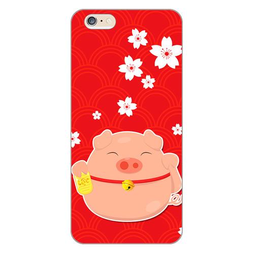 Ốp lưng dẻo cho điện thoại Apple iPhone 6 Plus   6s Plus Cute Pig 02   hàng chất lượng cao