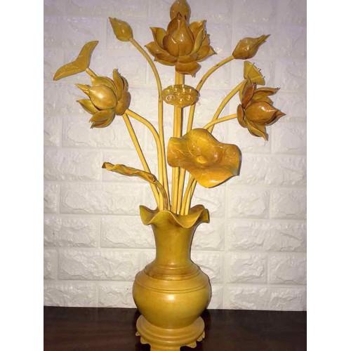 hoa sen gỗ mít bình mít 1 bình - 4730364 , 16587390 , 15_16587390 , 999000 , hoa-sen-go-mit-binh-mit-1-binh-15_16587390 , sendo.vn , hoa sen gỗ mít bình mít 1 bình
