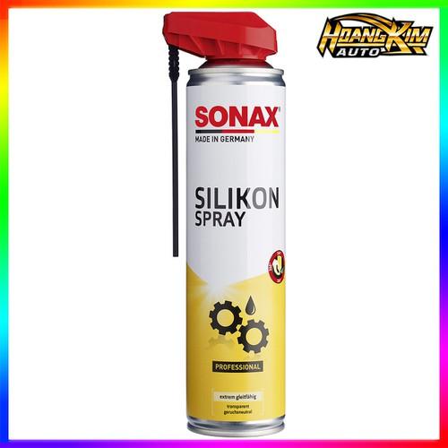 Chai Xịt Silicone Bôi Trơn Sonax Silicone Spray With Easyspray 400ml