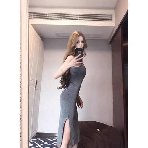 Váy Body 2 Dây Xẻ Đùi