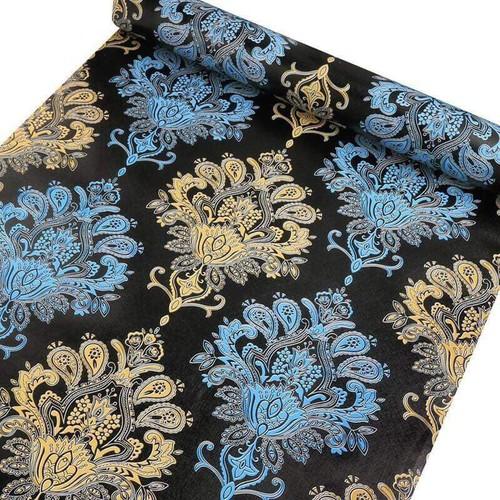 10m giấy dán tường hoa văn châu âu cổ điển khổ rộng 45cm có keo dán sẵn