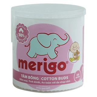 Hộp tròn 330 cây tăm bông trẻ em Merigo - Bạch Tuyết - TAM thumbnail