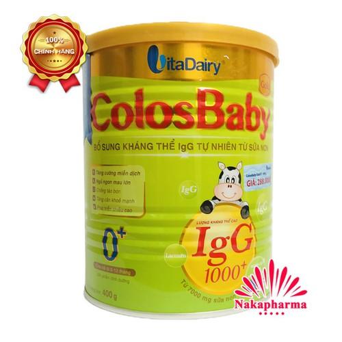 ✅ [CHÍNH HÃNG] Sữa non ColosBaby Gold 0+ IgG 1000+ Vitadiary 400g – Tăng cường miễn dịch, ngủ mau chóng lớn, chống táo bón - 6516993 , 16595801 , 15_16595801 , 275000 , -CHINH-HANG-Sua-non-ColosBaby-Gold-0-IgG-1000-Vitadiary-400g-Tang-cuong-mien-dich-ngu-mau-chong-lon-chong-tao-bon-15_16595801 , sendo.vn , ✅ [CHÍNH HÃNG] Sữa non ColosBaby Gold 0+ IgG 1000+ Vitadiary 400g –