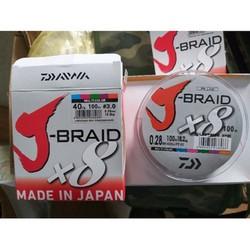 [Hàng Nhật Chính Hãng] Dây dù câu cá Nhật Daiwa X8 J-BRAID đủ size từ 1 đến 7 - Chuyền Câu lancer, câu lure, câu đài .... - ĐỒ câu DULI