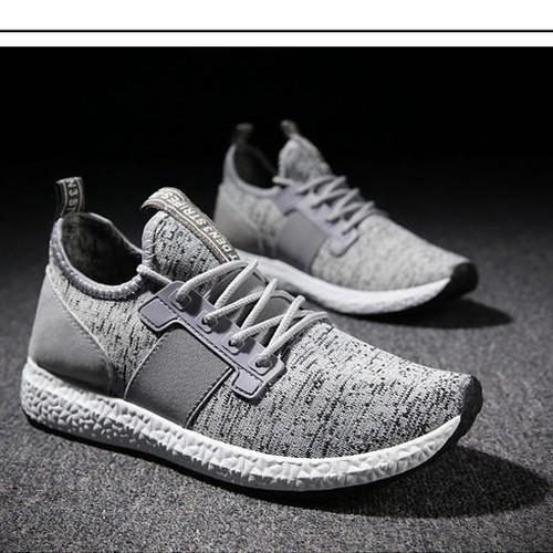 giày nam màu xám khói