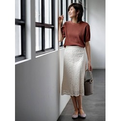 Chân váy ren nữ màu 01 Off White mã 409574 - hàng nhập Nhật
