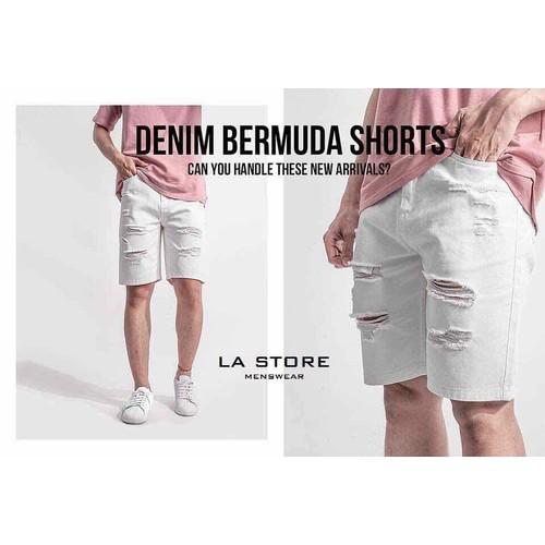 Quần short jean trắng quần short jean nam denim - 6518832 , 16597170 , 15_16597170 , 350000 , Quan-short-jean-trang-quan-short-jean-nam-denim-15_16597170 , sendo.vn , Quần short jean trắng quần short jean nam denim