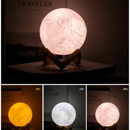 đèn mặt trăng-đèn mặt trăng size 15 cm cảm ứng bề mặt 3 màu