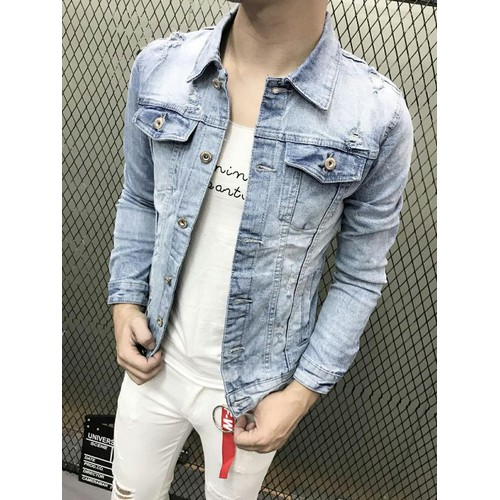 Áo khoác jean nam phong cách