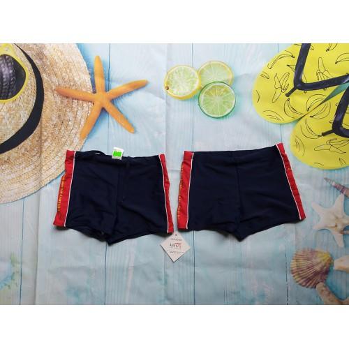 Quần bơi đùi cho bé trai,xanh than viền đỏ 15-25kg
