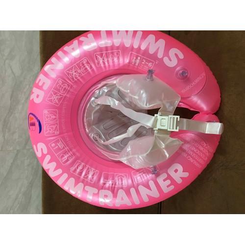 Phao tập bơi chống lật màu hồng cho bé