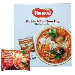 Mì Reeva lẩu nấm chua cay thùng 30 gói x 85g
