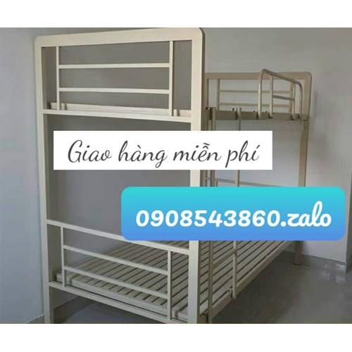 Giường tầng sắt hộp cao cấp 1mx2m