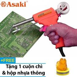 Mỏ hàn điện tử dạng súng, tự động đẩy thiếc Asaki AK-9095 60W – Nóng nhanh, mối hàn đẹp – Tặng thiếc & nhựa thông