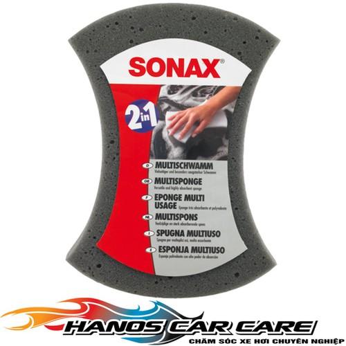 Miếng xốp bọt biển rửa xe chống xước Sonax 2-in-1 Multi Sponge