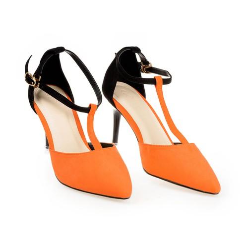 Giày cao gót phối quai 010029