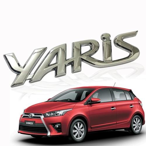 Logo chữ nổi YARIS dán trang trí đuôi xe