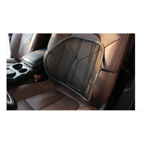 Đệm tựa lưng hỗ trợ thắt lưng lưới đen thông thường  - Bestcar - 37x42cm