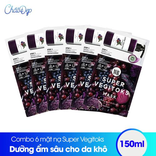 Combo 6 mặt nạ thải độc rau củ Super Vegitoks Mask Purple - 6534218 , 16608078 , 15_16608078 , 250000 , Combo-6-mat-na-thai-doc-rau-cu-Super-Vegitoks-Mask-Purple-15_16608078 , sendo.vn , Combo 6 mặt nạ thải độc rau củ Super Vegitoks Mask Purple
