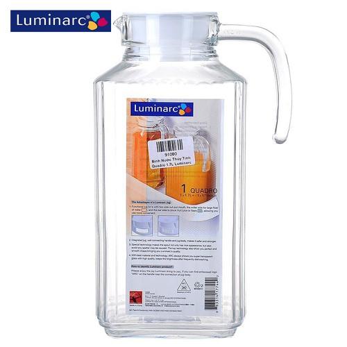 Bình nước thủy tinh Luminarc Quadro G2668 1.7 lít