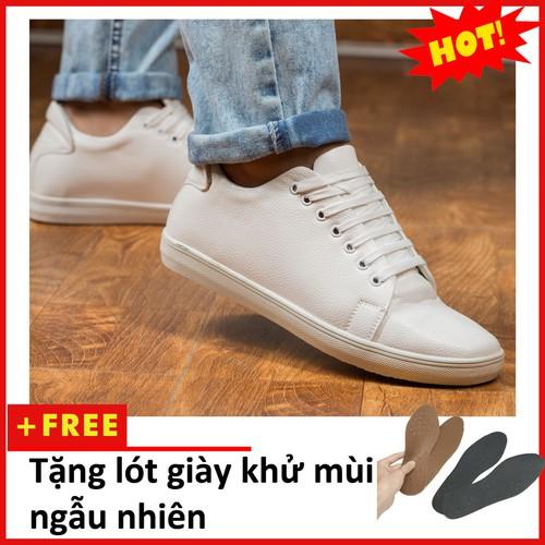 Giày Thể Thao Nam Màu Trắng Tăng Chiều Cao 6Cm Không Hề Lộ Cực Đẹp - Cực Chất - M360-TRANG-11319