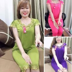 Bộ mặc nhà trung niên đồ bộ nữ trung niên mặc nhà cho mẹ