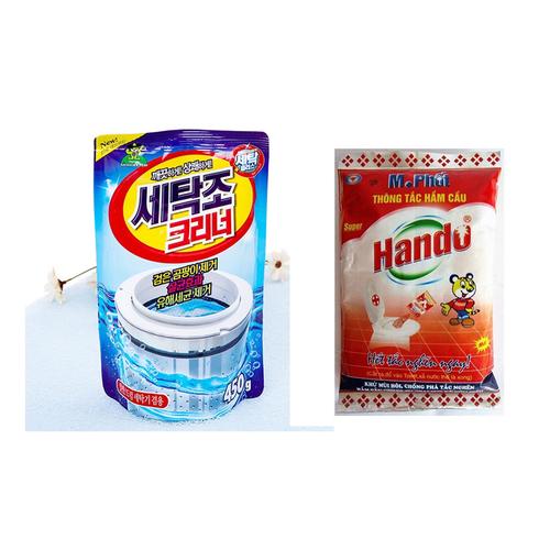 Gói bột tẩy vệ sinh lồng máy giặt 450g Korea + Tặng M.Phốt Hando 215g - 6546700 , 16616123 , 15_16616123 , 100000 , Goi-bot-tay-ve-sinh-long-may-giat-450g-Korea-Tang-M.Phot-Hando-215g-15_16616123 , sendo.vn , Gói bột tẩy vệ sinh lồng máy giặt 450g Korea + Tặng M.Phốt Hando 215g