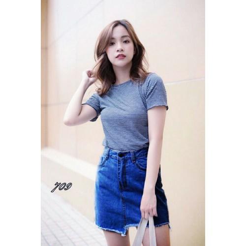 Chân váy jean nữ năng động - 6543898 , 16614123 , 15_16614123 , 135000 , Chan-vay-jean-nu-nang-dong-15_16614123 , sendo.vn , Chân váy jean nữ năng động