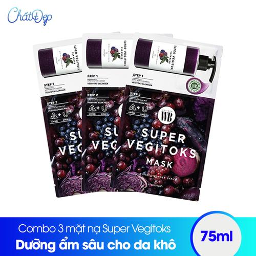 Combo 3 mặt nạ thải độc rau củ Super Vegitoks Mask Purple - 6533704 , 16607887 , 15_16607887 , 120000 , Combo-3-mat-na-thai-doc-rau-cu-Super-Vegitoks-Mask-Purple-15_16607887 , sendo.vn , Combo 3 mặt nạ thải độc rau củ Super Vegitoks Mask Purple