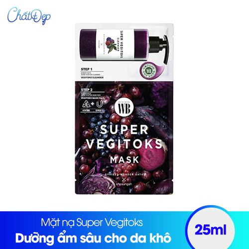 Mặt nạ thải độc rau củ Super Vegitoks Mask Purple - 6533260 , 16607549 , 15_16607549 , 50000 , Mat-na-thai-doc-rau-cu-Super-Vegitoks-Mask-Purple-15_16607549 , sendo.vn , Mặt nạ thải độc rau củ Super Vegitoks Mask Purple