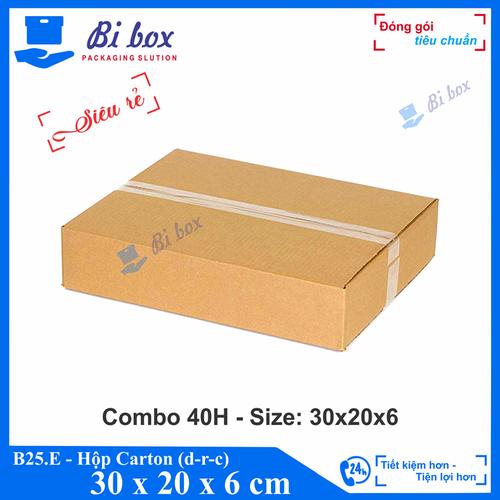 Combo 40 Hộp đựng 30x20x6 - Hộp carton giá rẻ