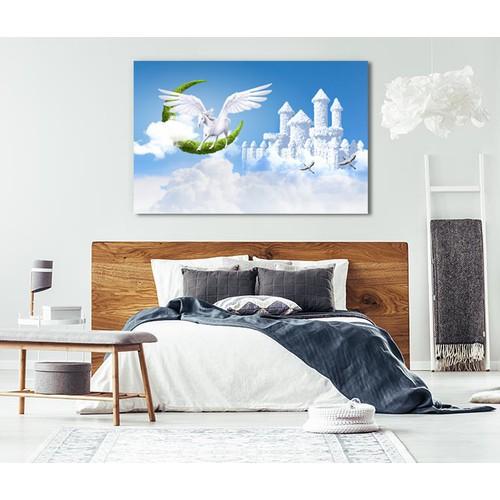 Tranh DÁN TƯỜNG vải Canvas cao cấp-Kích thước 1.2m x 75cm