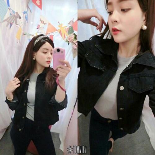 Áo khoác jean nữ trẻ trung