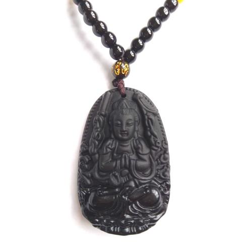 Dây chuyền nam nữ đá phong thuỷ phật Thiên Thủ Thiên Nhãn mang Bình An May Mắn Sức Khỏe